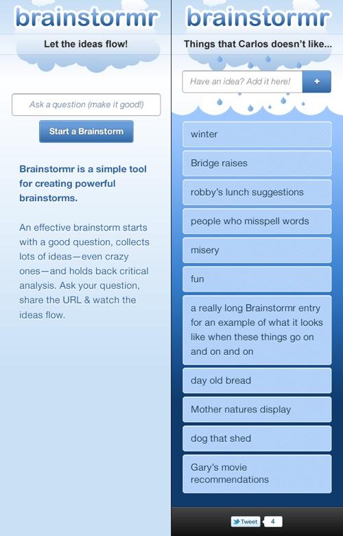 Brainstormr mobile